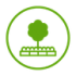 Tree icon in green on a transparent background