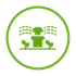Irrigation Icon in green on a transparent background