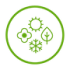 seasonal icon in green on a transparent background